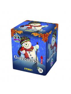 Купить Салют Снеговичок (модульный тип) 16 залпов 20 мм в Казани